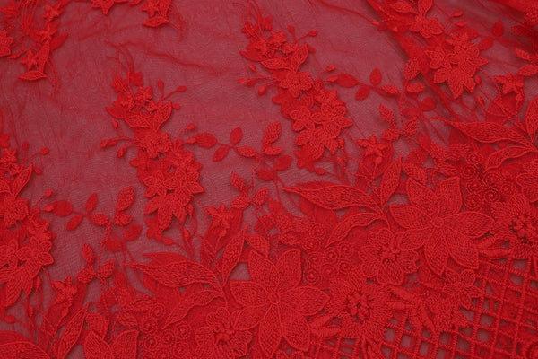 Celebrity High Quality Red Lace Sleeveless Hollow Out Long Rayon Bandage