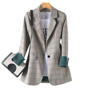 Fashion Business Suits Women Work Office Ladies Long Sleeve Casual Blazer
