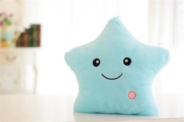 Luminous Pillow Soft Stuffed Plush Glowing Colorful Stars Cushion - GigaWorldStore