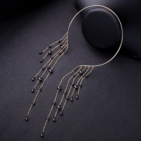 Jewelry Tassel Pendant Cuff Choker Necklace Waterfall Necklace Statement Jewelry Stylish 2020 - GigaWorldStore