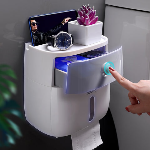 Waterproof Toilet Paper Holder Creative Paper Towels Holder For Kitchen Bathroom