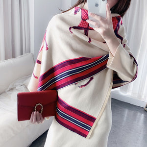 Fashion Scarf Women Cashmere Warm Pashmina Luxury Scarves Thick Soft Bufanda
