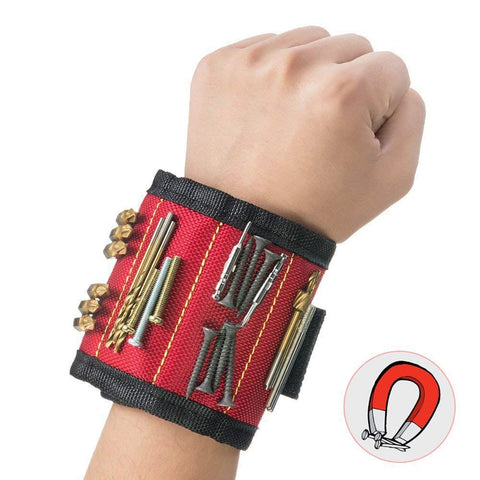 Magnetic Wristband Portable Tool Bag Electrician Wrist Tool Belt Screws Nails Holder