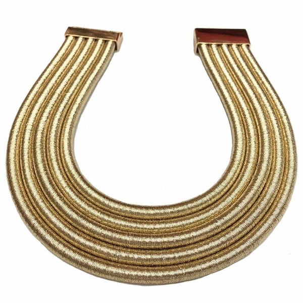 African Bib Torques Chokers Necklaces Statement Metal Geometric Collar Jewelry Boho Design