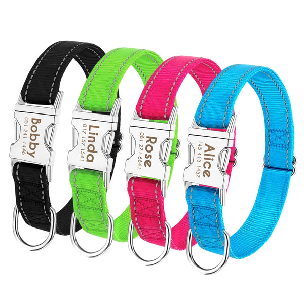 Personalized Pet Collar Reflective - GigaWorldStore