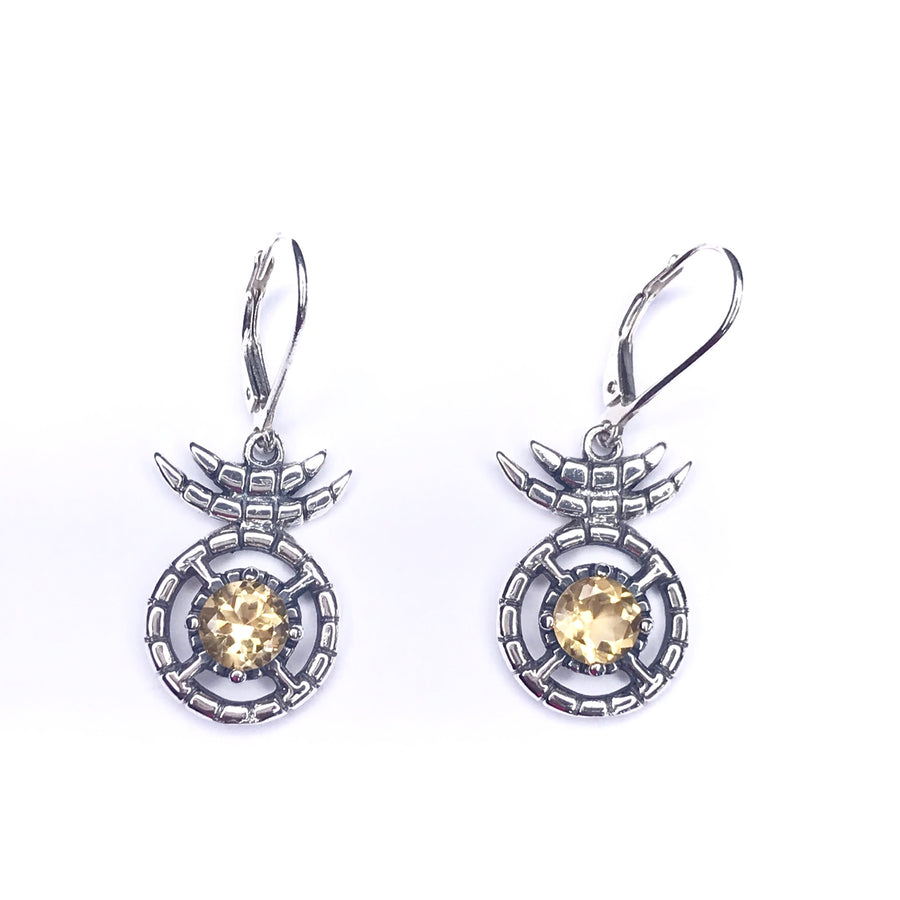 Nima drop earring - Citrine