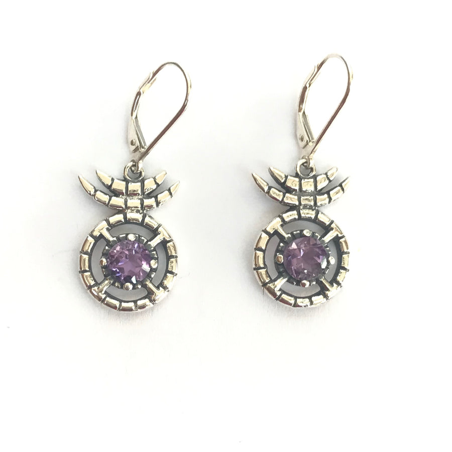 Nima drop earring - Amethyst