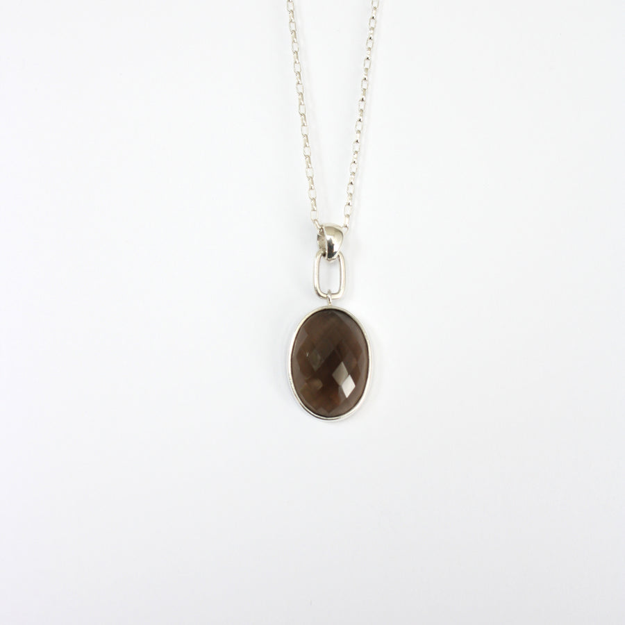 Lima smoky quartz necklace