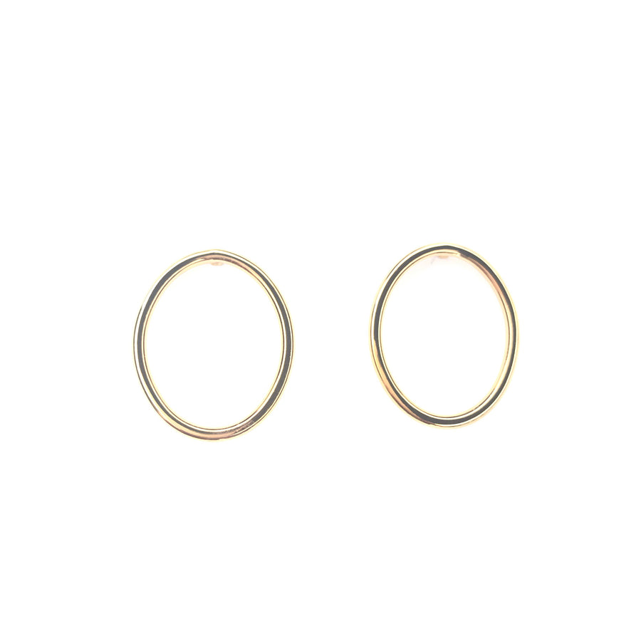 Positive oval stud plated