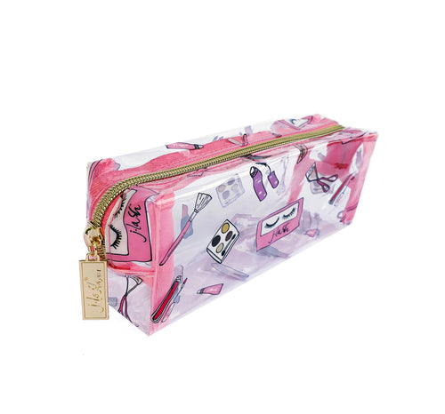 J-Lash *Limited Edition* Makeup Bag - Clear Cosmetics Print (Small)
