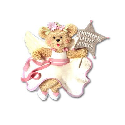"Personalized Christmas Ornament-""Mommy's Little Angel"" Ornament"