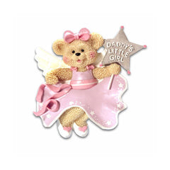 "Personalized Christmas Ornament-""Daddy's Little Girl"" Bear Ornament"