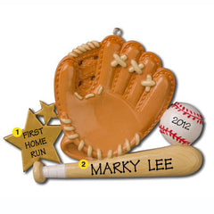 Personalized Christmas Ornament-Baseball Glove Ornament