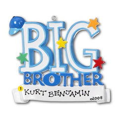 "Personalized Christmas Ornament-""Big Brother"" Ornament"