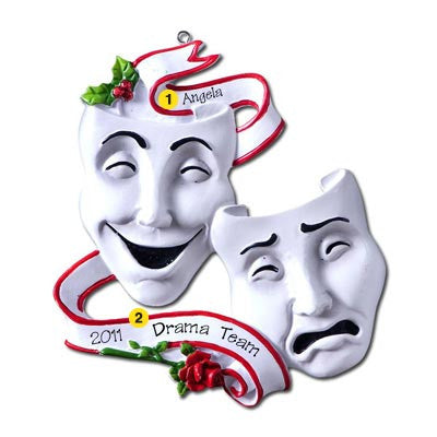 Personalized Christmas Ornament-Theatre Masks Ornament