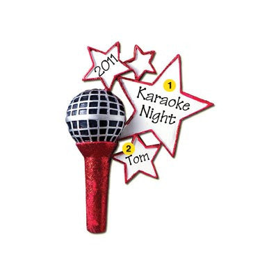 Personalized Christmas Ornament-Microphone/Karaoke Ornament