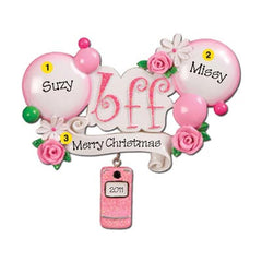 "Personalized Christmas Ornament-""BFF"" Best Friends Forever Ornament"