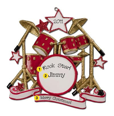 Personalized Christmas Ornament-Drum Set Ornament