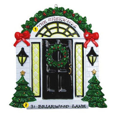 Personalized Christmas Ornament-Black Door Home Ornament