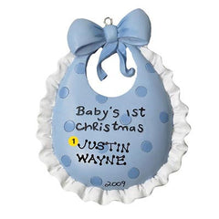Personalized Christmas Ornament-Baby Bib Ornament