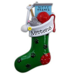 Personalized Christmas Ornament-Cat/Kitty Stocking