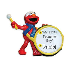 Personalized Christmas Ornament-Drummer Elmo (Sesame Street) Ornament