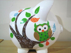 Personalized Piggy Bank-Forest Friends