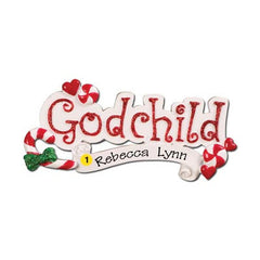 "Personalized Christmas Ornament-""Godchild"" Ornament"