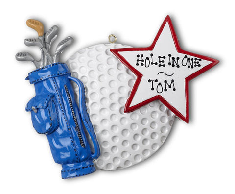 Personalized Christmas Ornament-Golf Ornament
