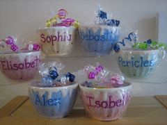 Personalized Ceramic Ice Cream Bowls