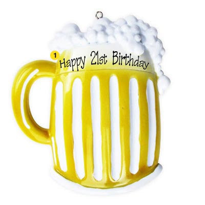 Personalized Christmas Ornament-Beer Mug Ornament