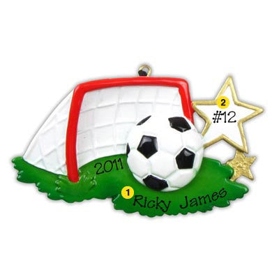 Personalized Christmas Ornament-Soccer Goal Ornament