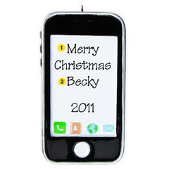 Personalized Christmas Ornament- iPhone/iPod Ornament