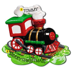 Personalized Christmas Ornament-Choo Choo Train/Steam Engine Ornament