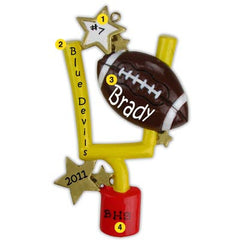 Personalized Christmas Ornament-Football Ornament