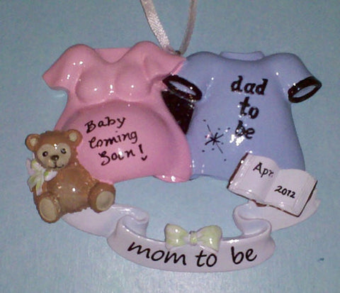 "Personalized Christmas Ornament-""We're Expecting"" Couple Ornament"