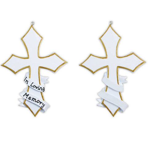 Personalized Christmas Ornament-Memorial Cross Ornament