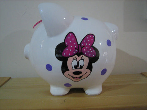Personalized Piggy Bank-Minnie Mouse