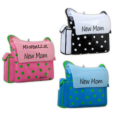 "Personalized Christmas Ornament-""New Mom"" Diaper Bag Pregnancy Ornament"