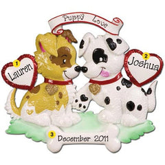Personalized Christmas Ornament-Puppy Love Ornament