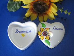 Personalized Trinket Boxes-Sunflowers
