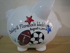 Personalized Piggy Bank-Sports