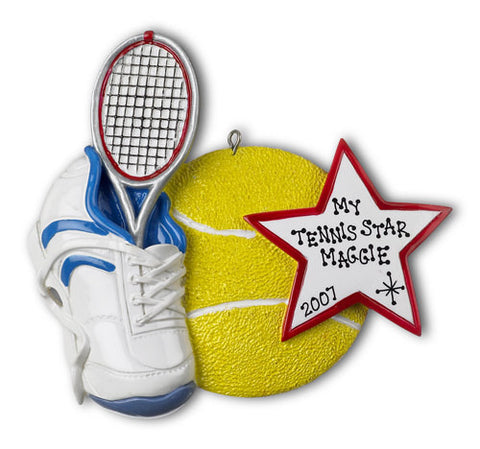 Personalized Christmas Ornament-Tennis Ornament