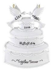 Personalized Christmas Ornament-Wedding Cake Ornament