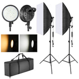 "Neewer LED Softbox Lighting Kit with 20""x28"" Softboxes, LED Light Heads with Battery Compartment, and Light Stands - neewer.com"