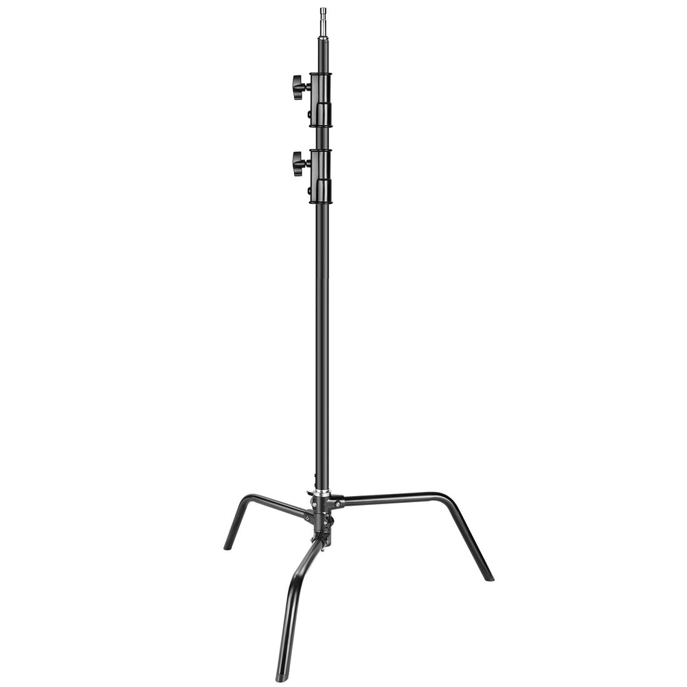 Neewer Heavy Duty Light Stand with Detachable Base 5-10 feet/1.6-3.2 m Adjustable C Stand with 2 Risers - neewer.com