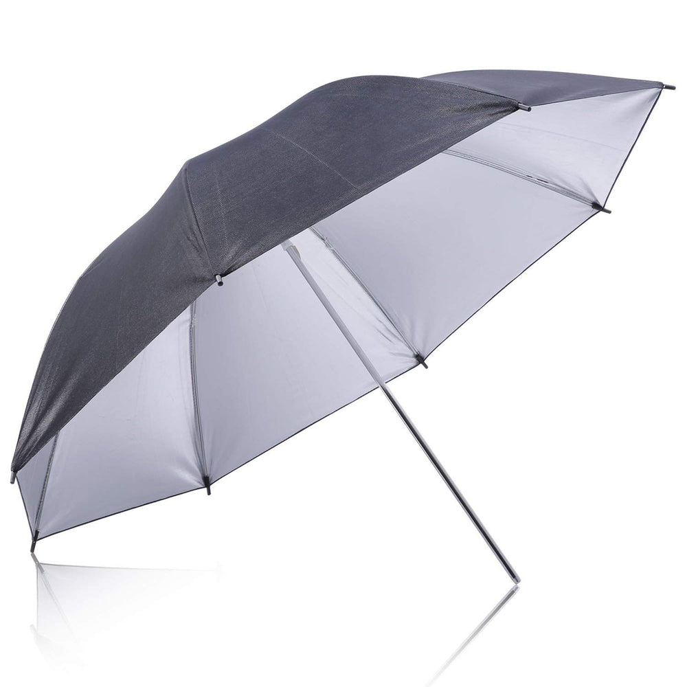 "Neewer Flash Mount Three Umbrellas Kit 33""/84cm White Soft/Silver Reflective/Gold Reflective for Canon - neewer.com"