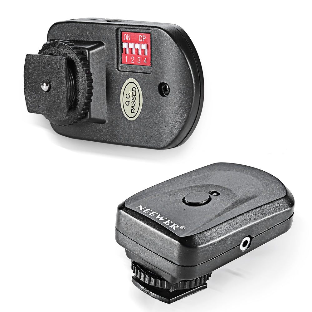 Neewer 16 Channel Wireless Remote FM Flash Speedlite Radio Trigger with 2.5mm PC Receiver - neewer.com