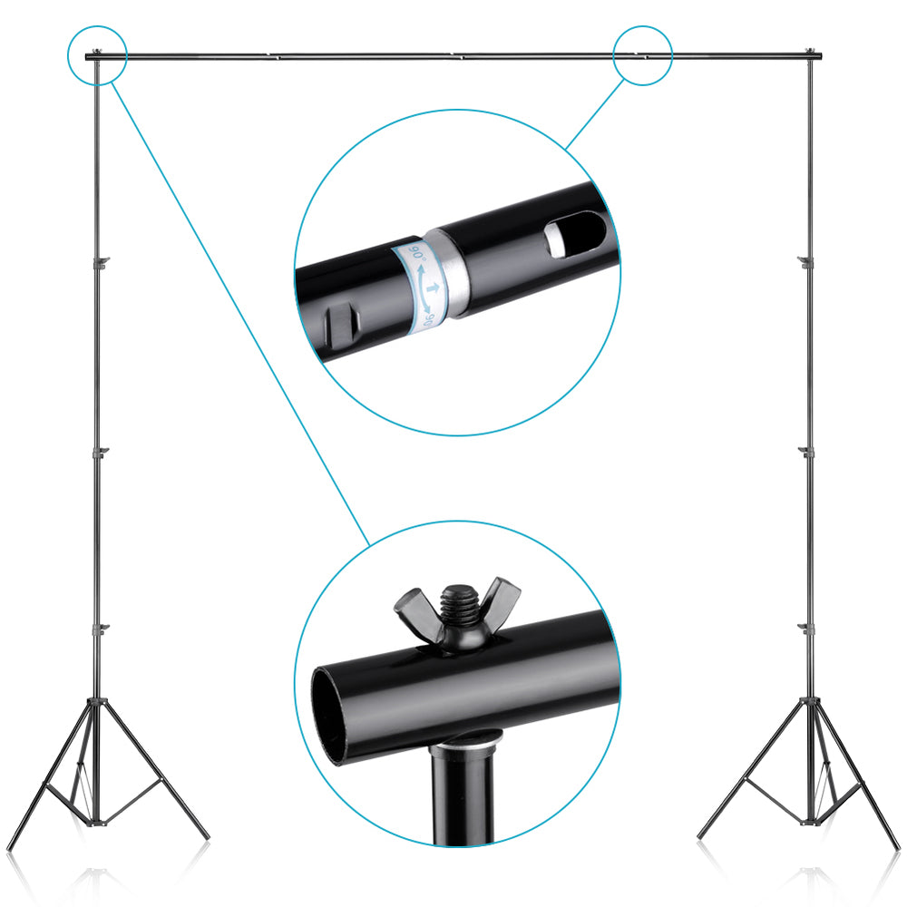 Neewer 8.5x10ft/2.6x3 M Background Stand Support System with Backdrop