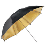 "Neewer Flash Mount Three Umbrellas Kit (2) 33""/84cm White Soft/Silver Reflective/Gold Reflective Umbrella"